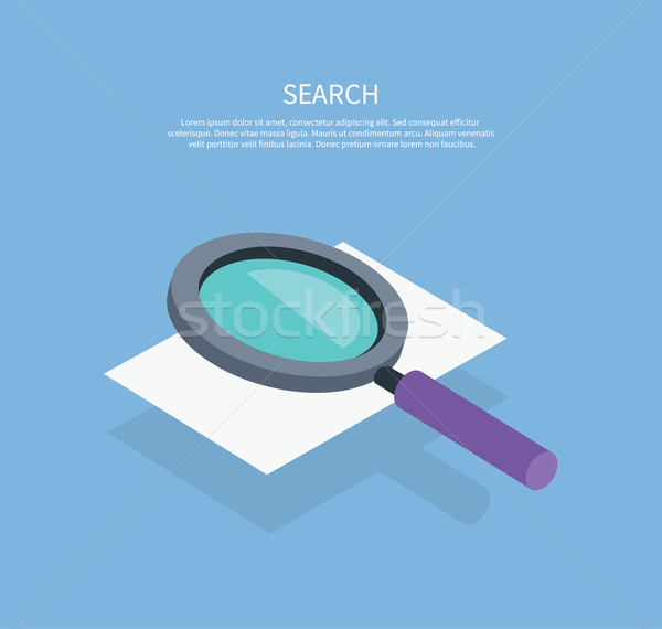 Search Icon Magnifying Glass Design Flat Stock photo © robuart
