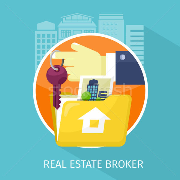 Real Estate Broker Design Flat Stock photo © robuart