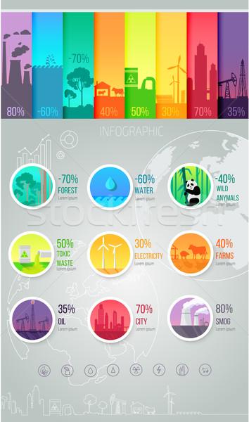 Modelo indústria dados informação relatório Foto stock © robuart