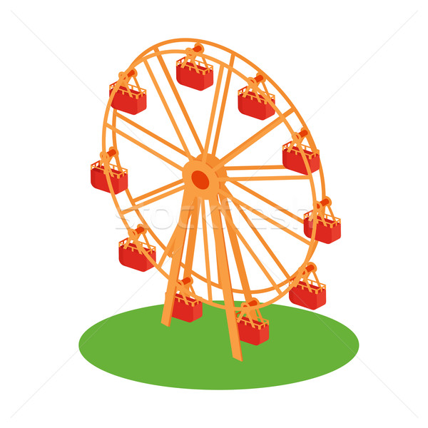 Ferris Wheel Attraction Illustration Stock photo © robuart