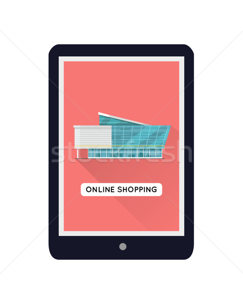 Commercial Building Web Design Template Stock photo © robuart