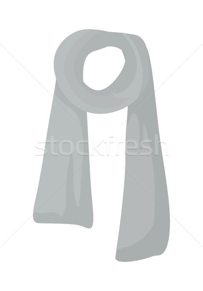 Czerwony trykotowy szalik odizolowany biały szary Zdjęcia stock © robuart