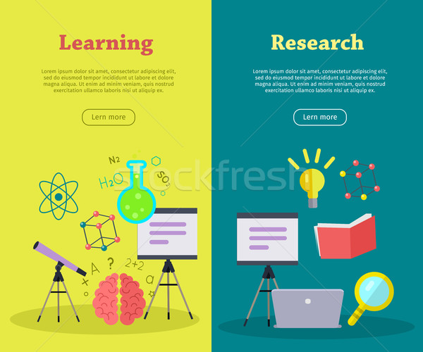 Stockfoto: Ingesteld · wetenschappelijk · vector · web · banners · stijl