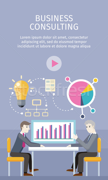 Business Consulting Concept Vector Illustration Stock photo © robuart