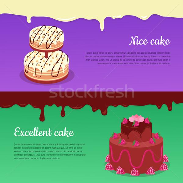 Ottimo torta gustoso vettore nice Foto d'archivio © robuart