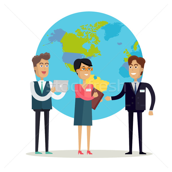 Business People Characters Vector in Flat Design. Stock photo © robuart