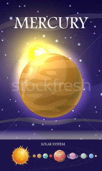 Mercury Planet. Sun System. Universe. Vector Stock photo © robuart