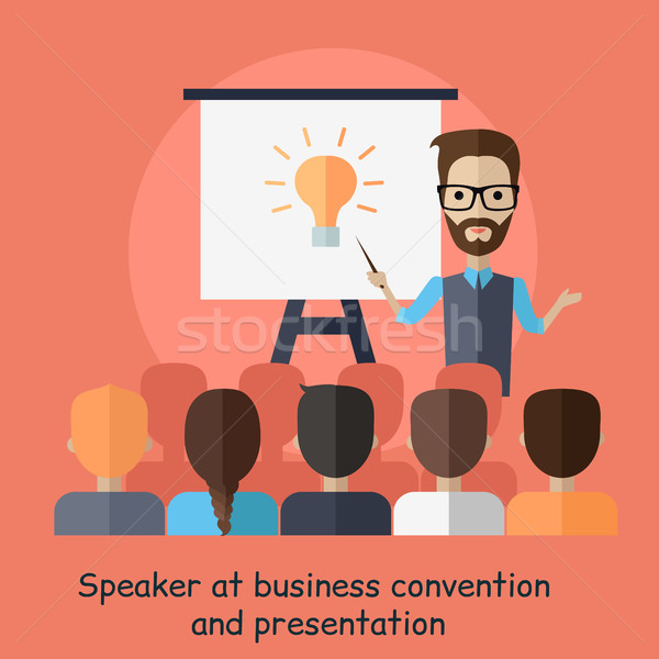 Speaker at Business Convention and Presentation Stock photo © robuart