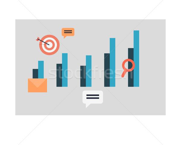 Gráfico de negocio tabla iconos símbolos Foto stock © robuart