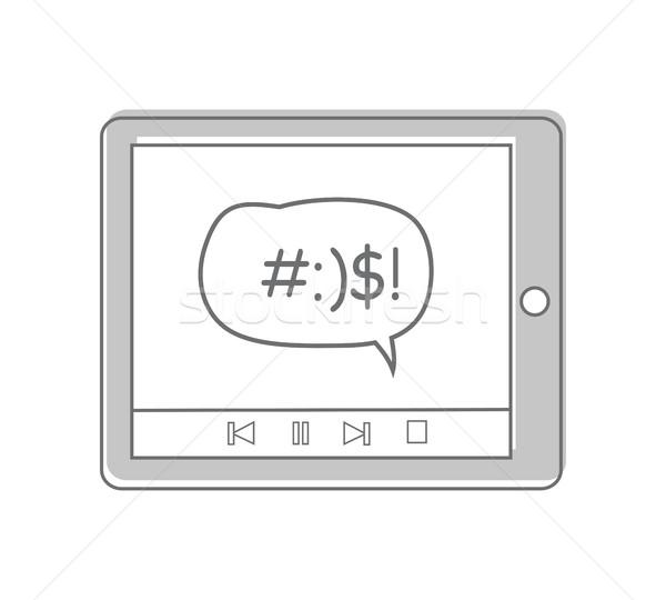 Mensagem tela conversar diálogo Foto stock © robuart
