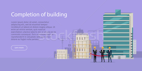 Construction Completion Building Design Web Banner Stock photo © robuart