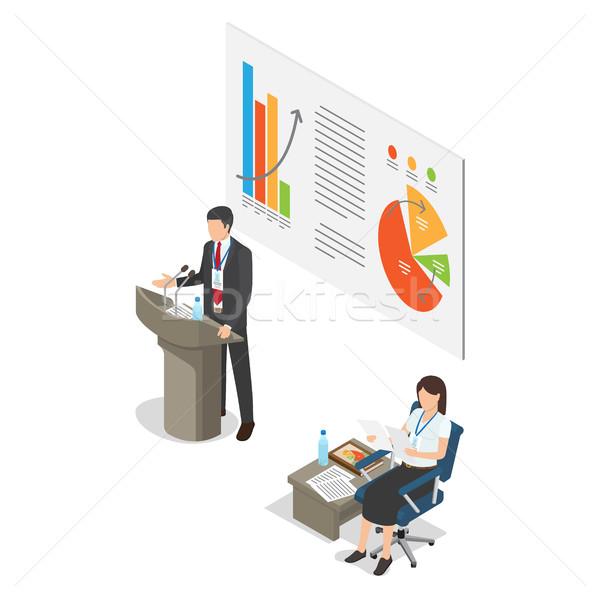 講義 ビジネス コーチング 漫画 スタイル 白 ストックフォト © robuart