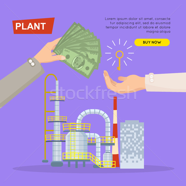 Buying Plant Online. Property Selling. Web Banner. Stock photo © robuart