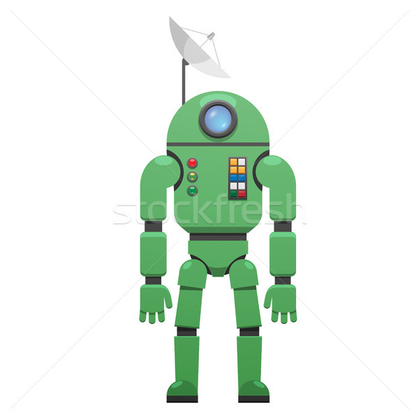 Modern Space Suit with Receiver on Head Isolated Stock photo © robuart