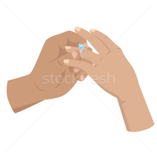 Proposal Agreement Touching Moment Illustration Stock photo © robuart