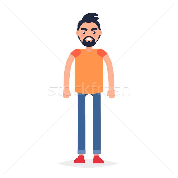Cartoon Full-Length Man Isolated Illustration Stock photo © robuart