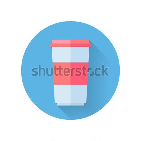 Red and White Food Container for Yogurt Stock photo © robuart
