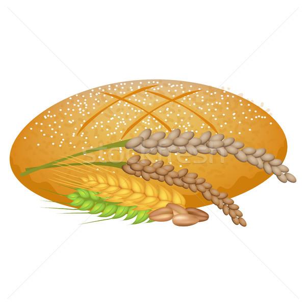Blé pain pain céréales blanche fraîches Photo stock © robuart