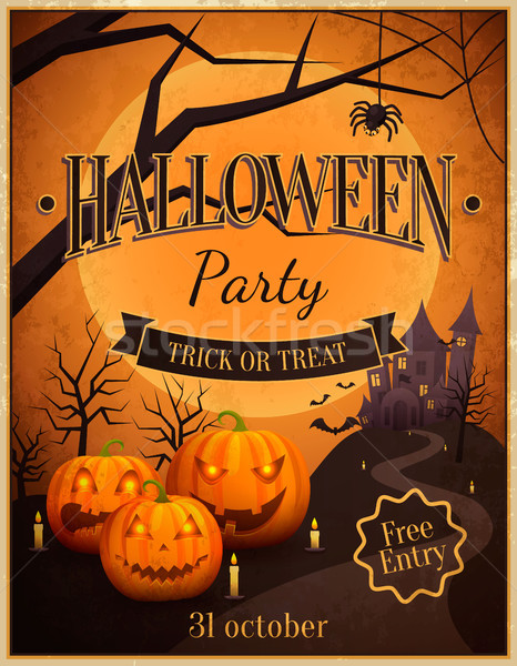 Halloween Party Trick or Treat Vector Illustration Stock photo © robuart