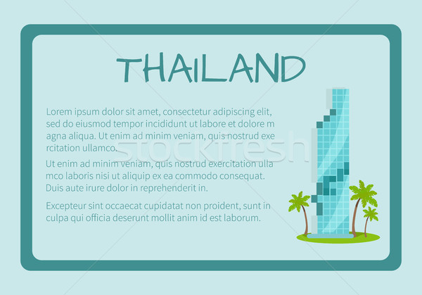 Tajlandia wektora banner tekst symbolika Zdjęcia stock © robuart