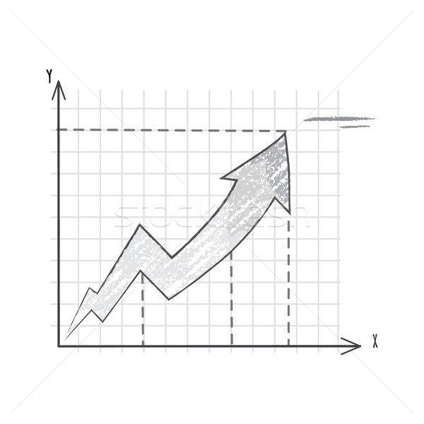 Sketch of Growing Graphic Vector Illustration Stock photo © robuart