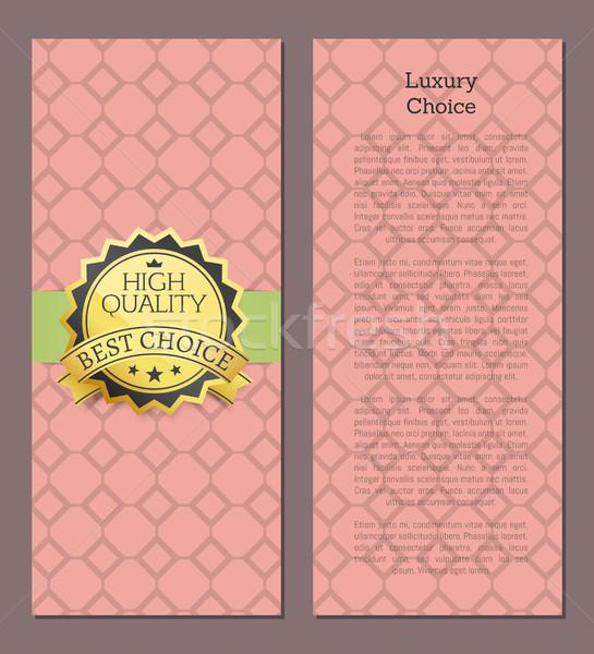 Luxus választás magas minőség díj legjobb választás Stock fotó © robuart