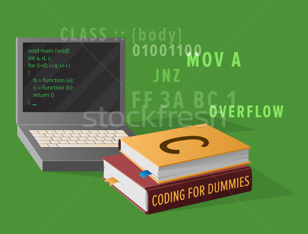 Computer and Textbooks for Informatics Studies Stock photo © robuart