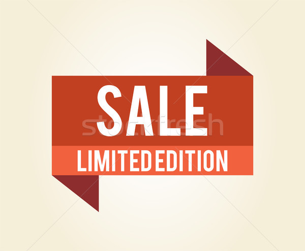 Sale Limited Edition Icon Vector Illustration Stock photo © robuart