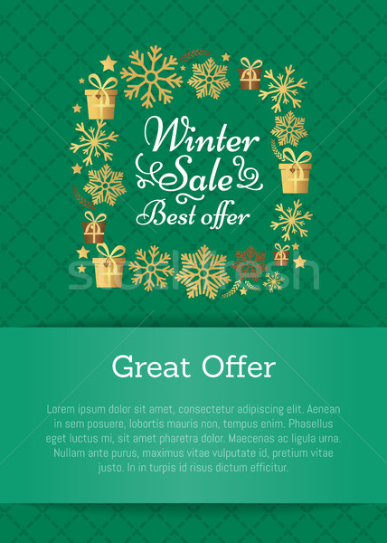 Winter Sale Best Offer on Vector Illustration Stock photo © robuart