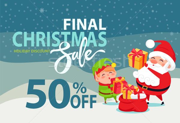 Final Navidad venta vacaciones descuento 50 Foto stock © robuart