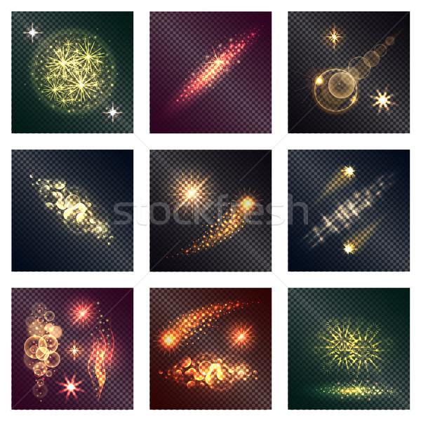Diverso colore illuminazione effetti nove lucido Foto d'archivio © robuart