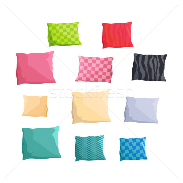 Decorative Small Cushions Plain and with Patterns Stock photo © robuart
