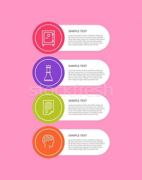 Infographic Objects Collection Vector Illustration Stock photo © robuart