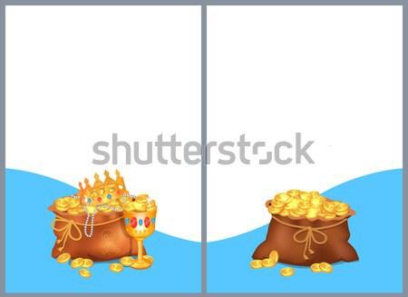Schat collectie poster posters koninklijk kroon Stockfoto © robuart