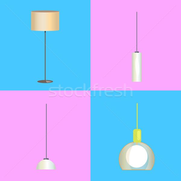 Moderno lampada lampadario illustrazioni piano Foto d'archivio © robuart