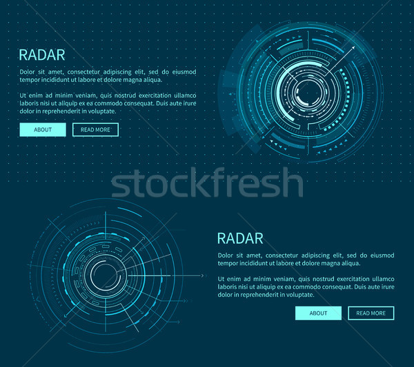 Radar Layout with Many Figures Vector Illustration Stock photo © robuart