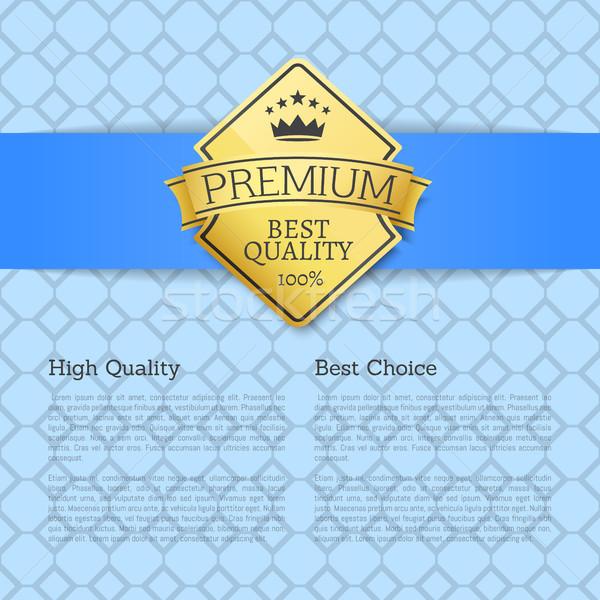 Alto calidad elección dorado etiqueta garantizar Foto stock © robuart