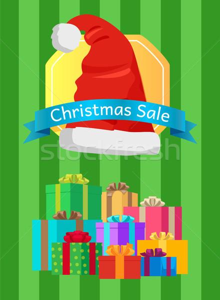 Noel satış poster sunmak promo etiket Stok fotoğraf © robuart