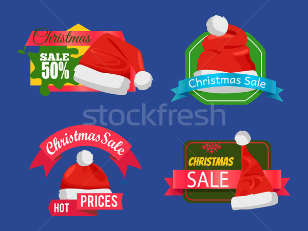 Christmas Sale Super Choice Half Price Banners Stock photo © robuart