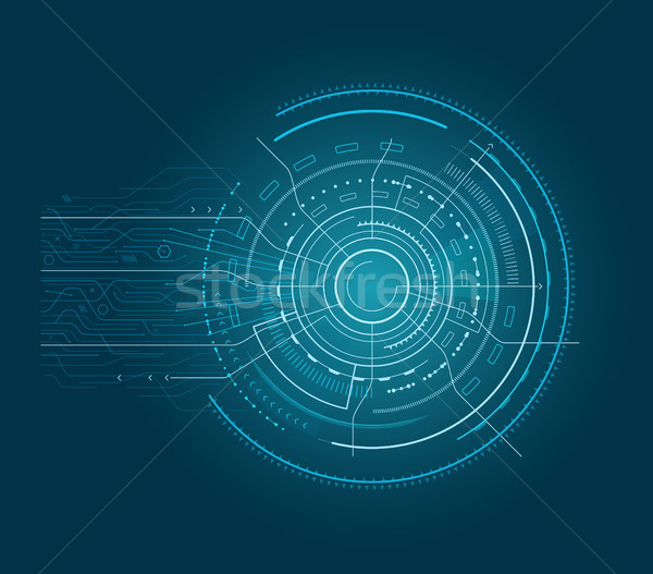 Interface with Arrows Blue Vector Illustration Stock photo © robuart