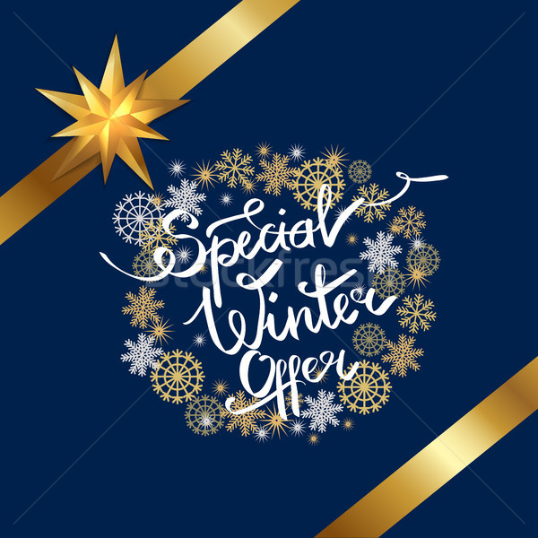 Special Winter Offer in Frame Made of Snowflakes Stock photo © robuart