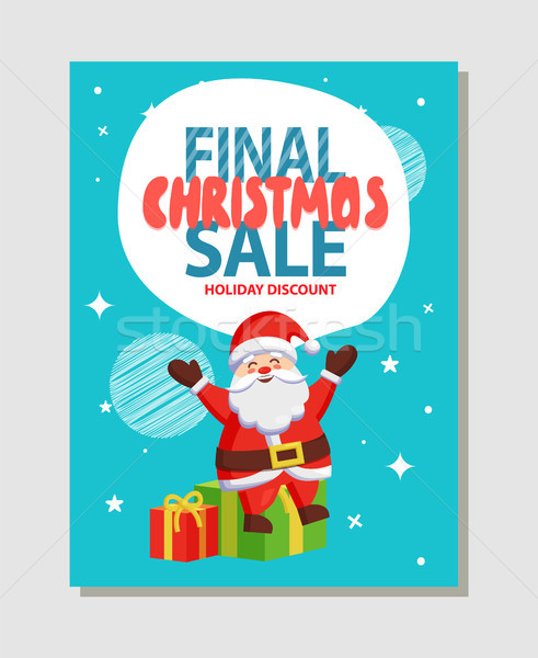 Final Christmas Sale Holiday Discount Poster Santa Stock photo © robuart