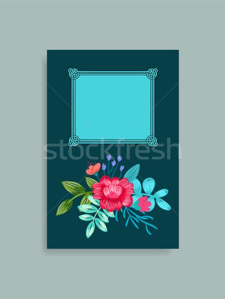 охватывать дизайна рисованной розовый цветы Сток-фото © robuart
