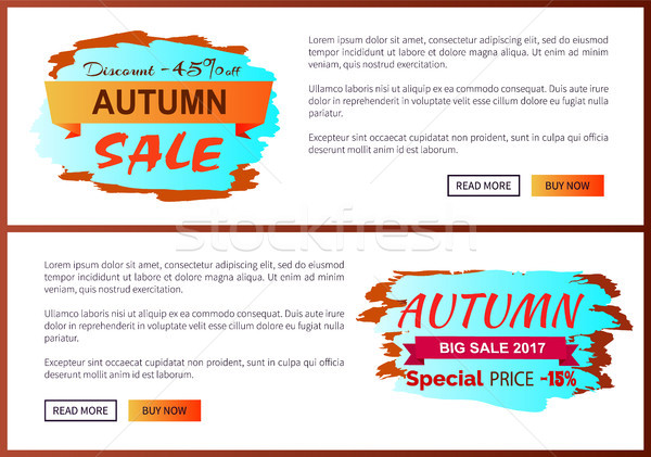 Autumn Discount -45 clearance with Icon on Poster Stock photo © robuart