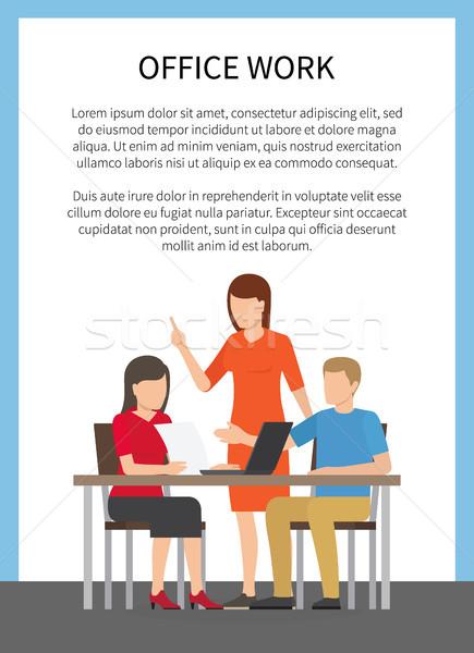 事務 ポスター 文字 画像 女性 着用 ストックフォト © robuart