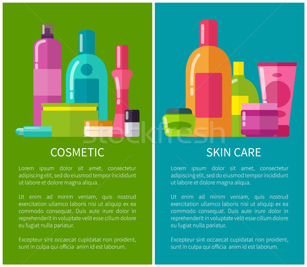 Cosmetic and Skin Care Banners Vector Illustration Stock photo © robuart