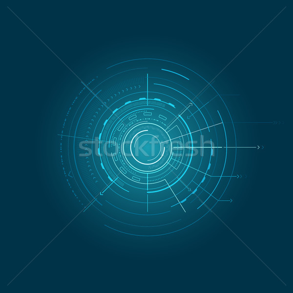 Blue Interface with Various Geometric Figures Stock photo © robuart