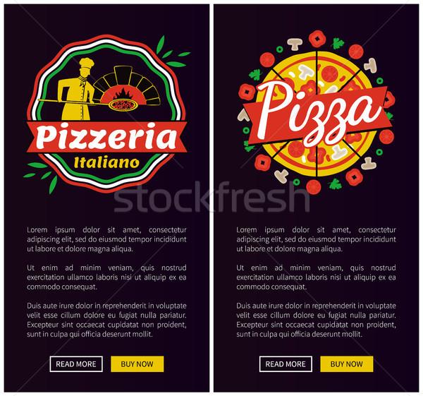 Stok fotoğraf: İtalyan · pizza · en · iyi · kalite · dikey · web