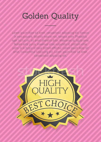 Golden Quality Poster Exclusive High Best Choice Stock photo © robuart