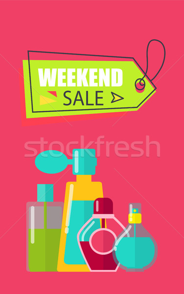 Weekend verkoop cosmetica make-up collectie objecten Stockfoto © robuart